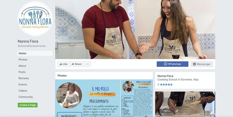 Nonna Flora Sorrento Family Kitchen Cooking Class