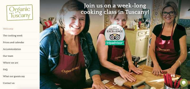 Organic Tuscany Cooking Class