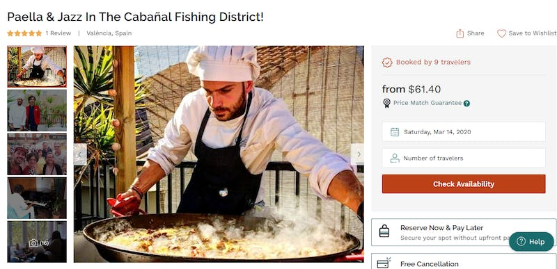 Paella & Jazz In The Cabañal Fishing District