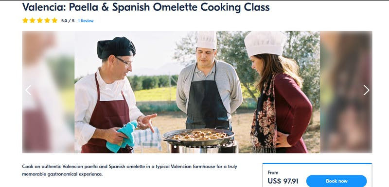 Paella and Spanish Omellete Cooking Class