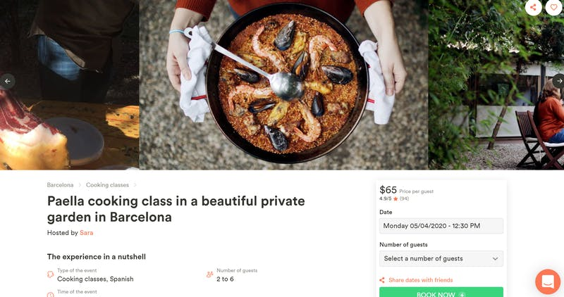 Paella Cooking Class in a Private Garden
