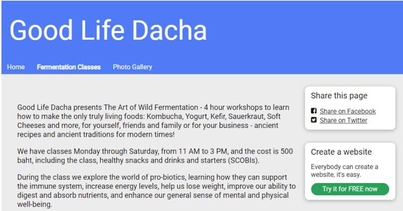 Good Life Dacha Fermentation Class