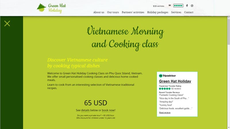 Green Hat Holiday Cooking Class