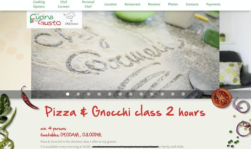 Pizza and Gnocchi Class