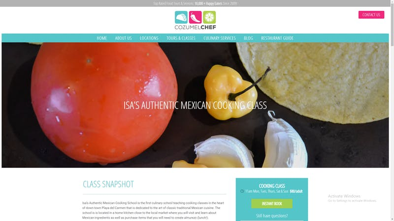 Isa Authentic Mexican Cooking Class
