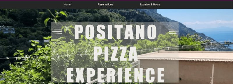 Positano Pizza Experience Cooking Class