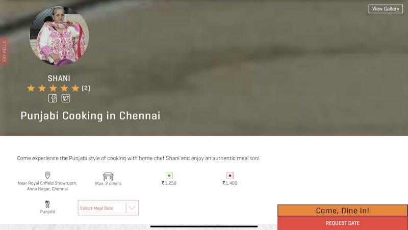 Punjabi Cooking in Chennai