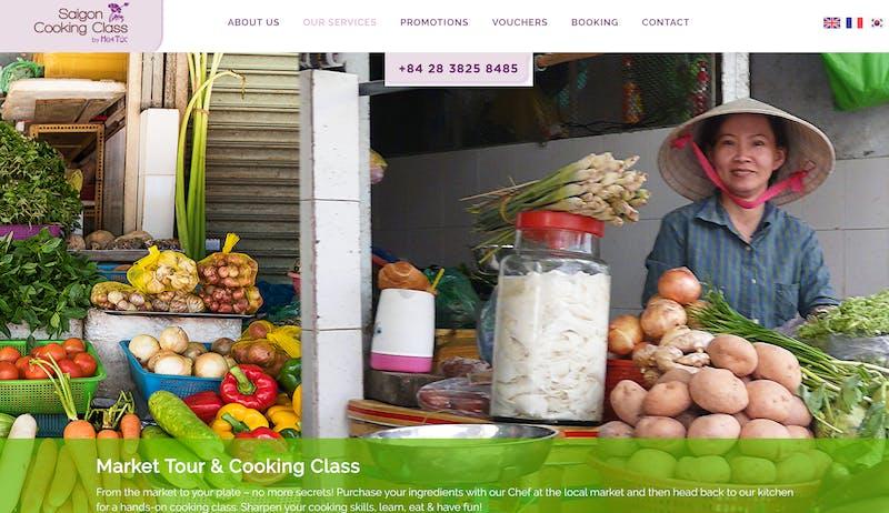 Saigon Cooking Class and Market Tour