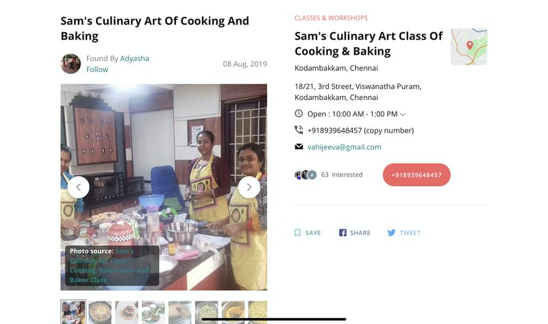 Sam's Culinary Art of Cooking and Baking