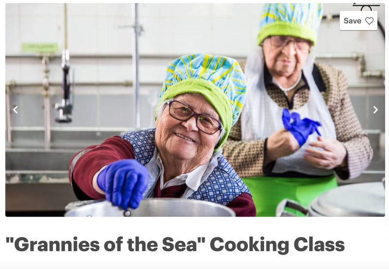 Grannies of the Sea Cooking Class