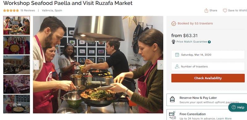 Seafood Paella at Rufaza Market