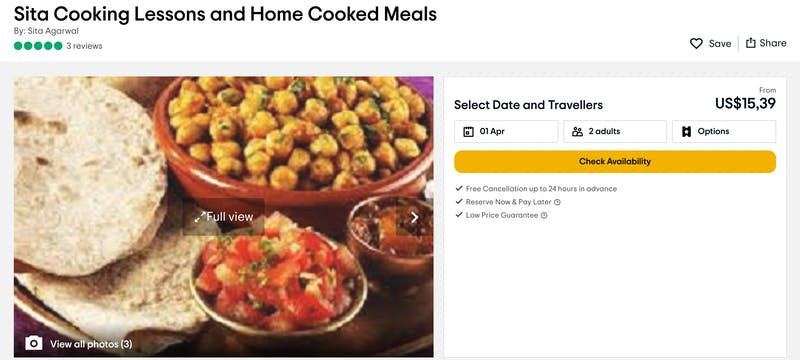 Sita Cooking Lessons and Home  Cooked Meals
