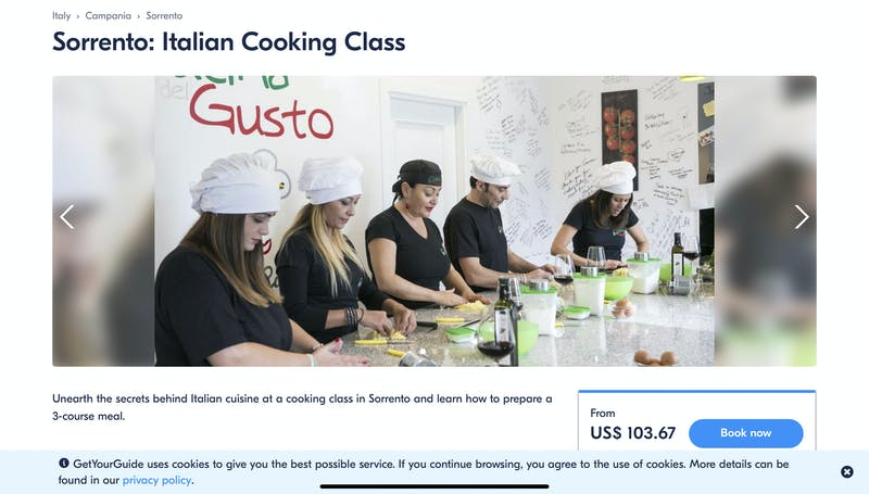 Sorrento: Italian Cooking Class