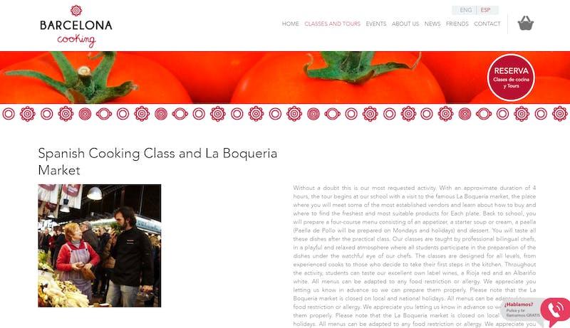 Spanish Cooking Class and La Boqueria Market