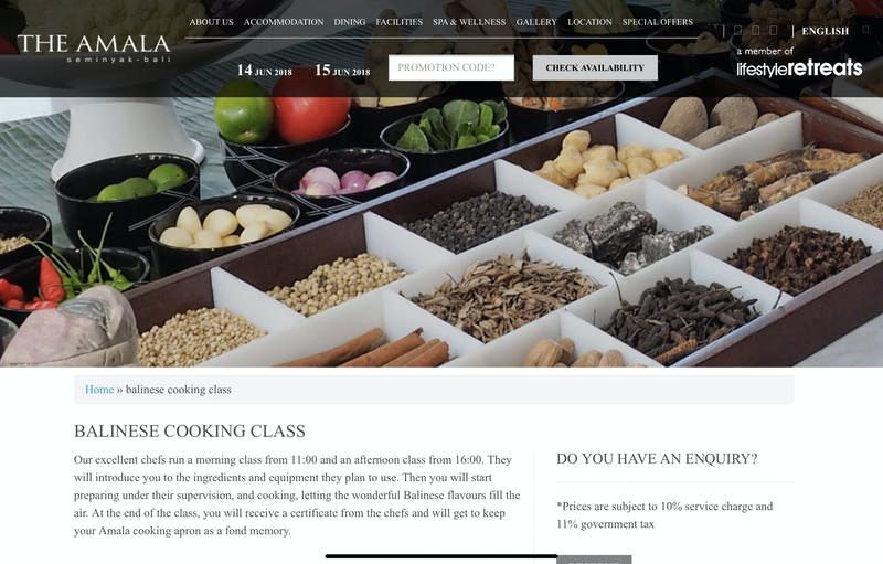 The Amala Balinese Cooking Class