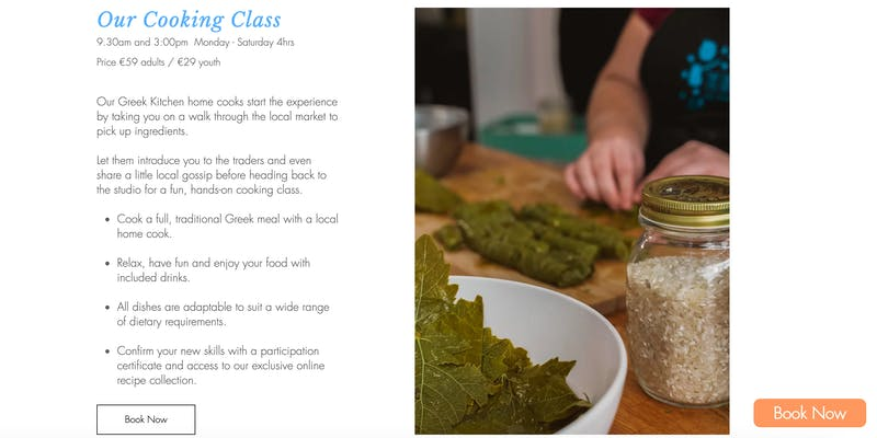 The Greek Kitchen Cooking Class
