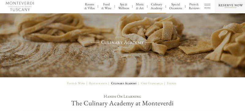 The Culinary Academy at Monteverdi