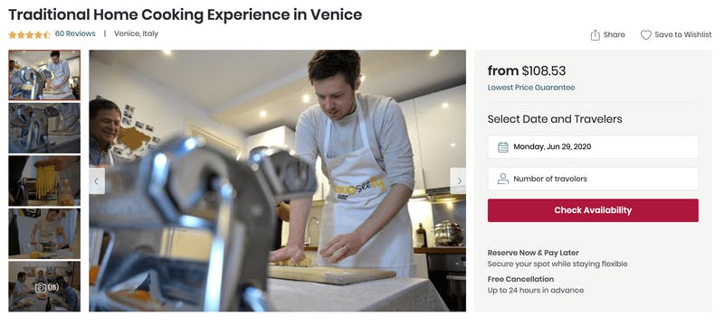 Traditional Home Cooking Experience in Venice