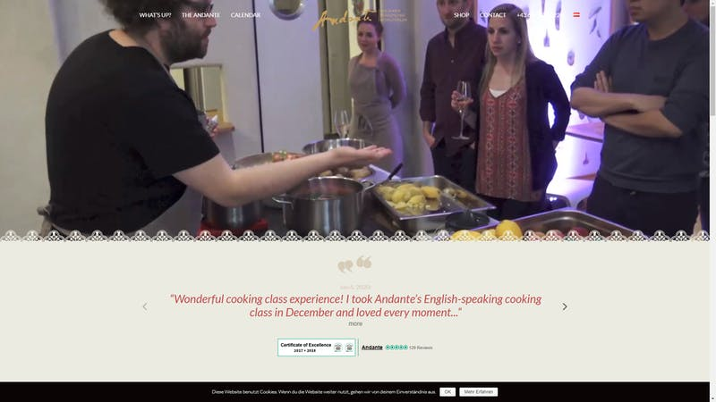 Andante Cooking Class