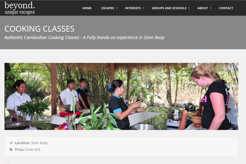 Cambodian Village Cooking Class