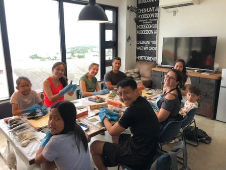 Japanese sushi cooking class