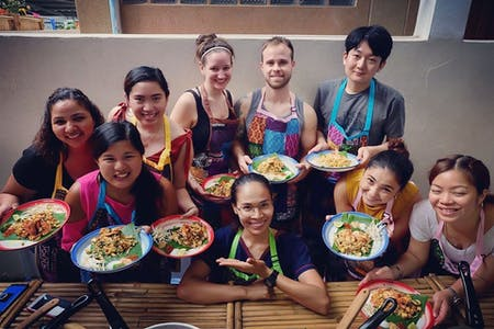Traditional Thai Cooking at Siamese with Local Market Tour in Bangkok