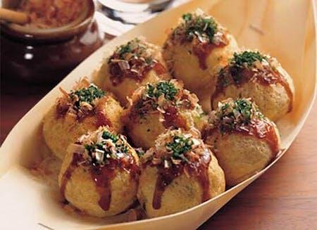 Takoyaki and Chicken Karaage