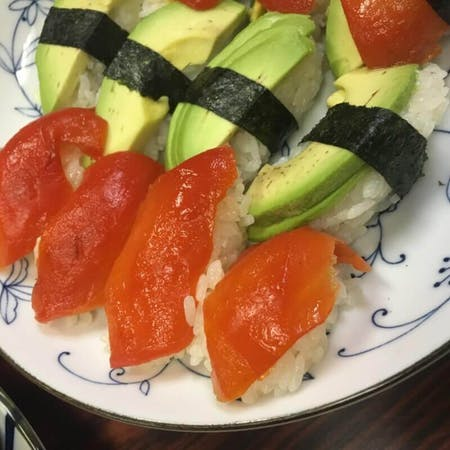Vegetable sushi of South West part of Japan