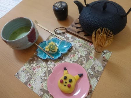 2 types of Japanese sweets & Tea Ceremony