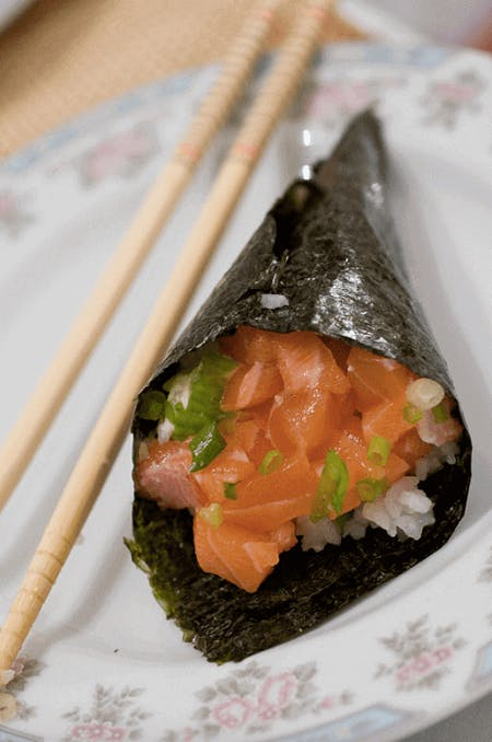 Temaki sushi(Hand rolled Sushi) Making Experience!