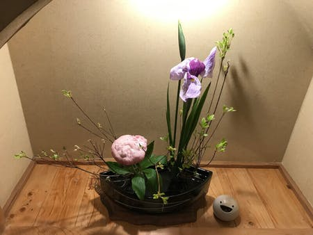 Kashiwa Mothi & Ikebana(Japanese Flower Arrange)