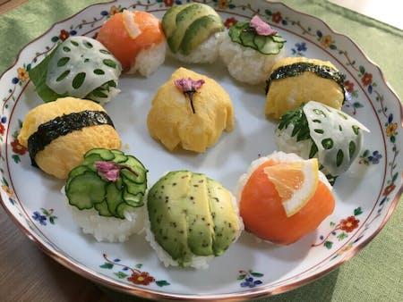 Temari-sushi (sushi-ball)