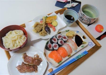 Handmade Udon & Wagyu Aburi Sushi/Nigiri Sushi/Maki Sushi with Tempura