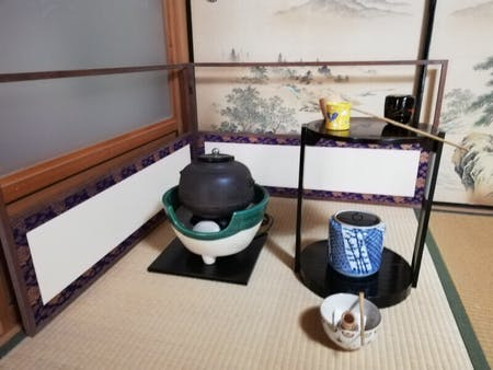 Japanese tea ceremony and Japanese traditional sweets(Wagashi)