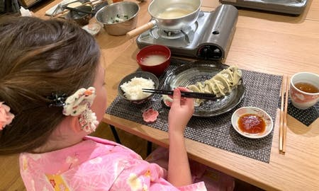 Gyoza Cooking in Kyoto with Local chef