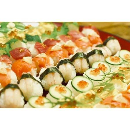 Maki Sushi Temari Sushi Miso Soup