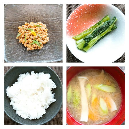 Japanese typical breakfast