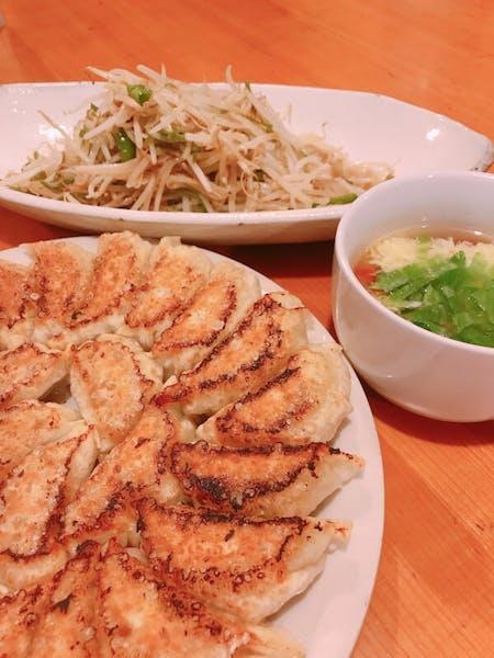 Homemade set meal of Gyoza