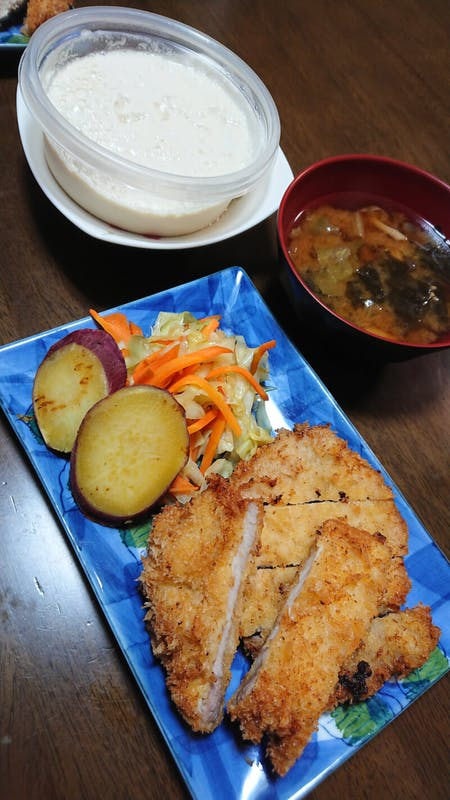 Tonkatsu or Tempura and miso soup