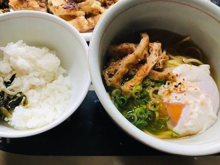Kyoto-style Chuka-soba( Japanese-ramen)that tastes like a udon restaurant