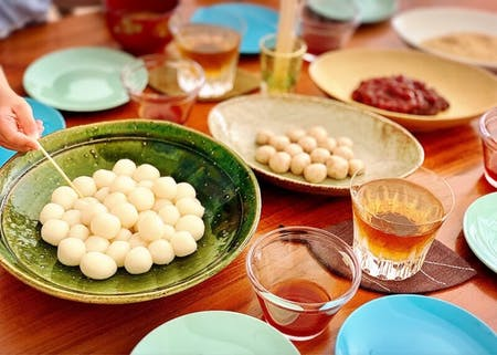 Let's cook DANGO (Japanese sweets) ! and learn 2 most popular Japanese dishes