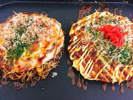 Okonomiyaki (Japanese savory pan cake)