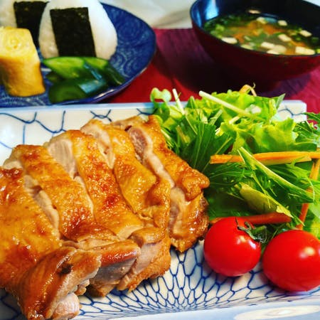 From Kyoto! Teriyaki chicken set meal with oven experience