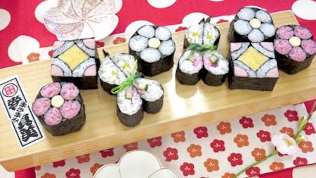 Art SUSHI ROLL & MOCHI@Ginza-Tsukiji, Tokyo★for big party!