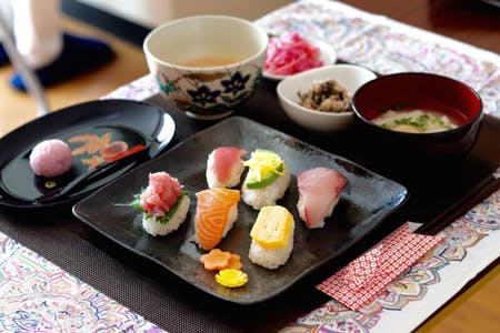 Sushi cooking and Tea ceremony(Macha)