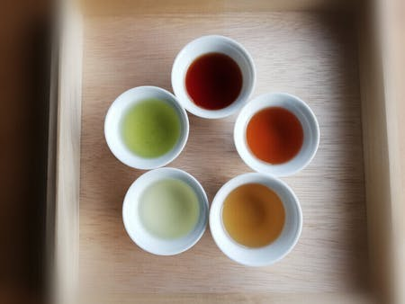 Traditional Japanese tea tasting with homemade sweets(Tea ceremony)
