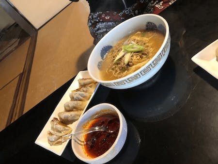 Let\' make Ramen and Gyoza and eat it at the  traditional house !!
