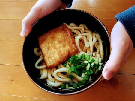 Hand made Udon and dashi-soup with dashi-sommelier in Tokushima Shikoku