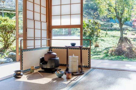 Mindfulness Tea ceremony  in the nature