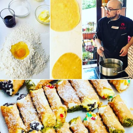 Cannolo Making